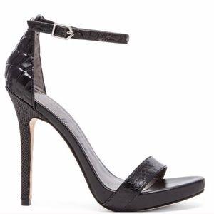 Sam Edelman Black Leather Elenore Sandal 9.5 Heel